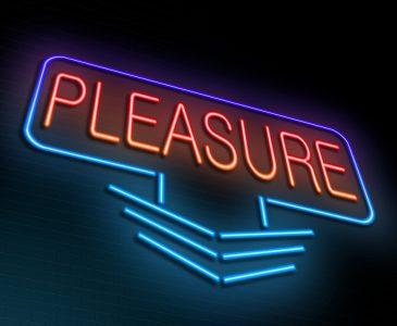 Pleasure concept.